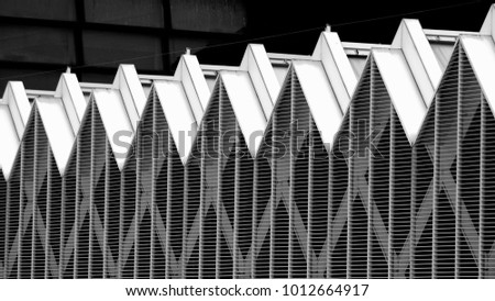 roof, repetitive zigzag pattern #1012664917