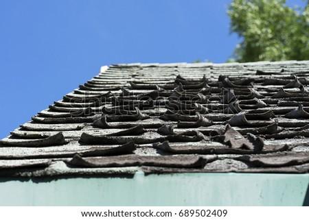 Roof shingles #689502409