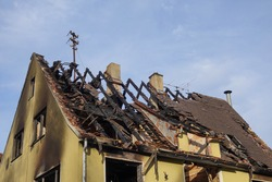Roof Structure of a burned down House