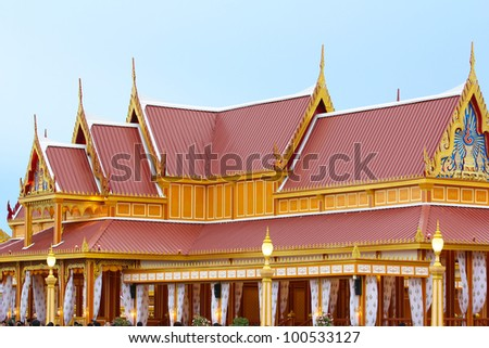 Roof style, Thai style.