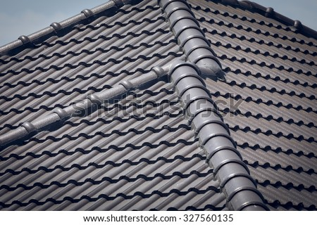 roof tile on residential building construction house