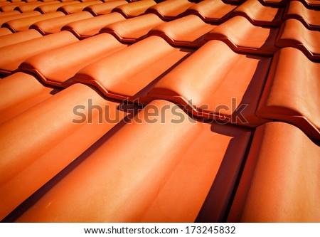 Roof tiles closeup #173245832