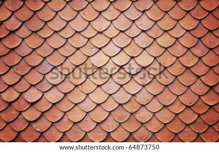 Roof tiles of classic Buddhist - stock photo