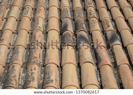 Roof tiles on the Costa Blanca, Spain  #1370082617