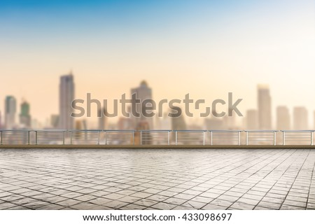roof top balcony with cityscape background #433098697