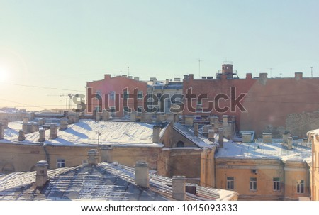 roof tops in old residential...