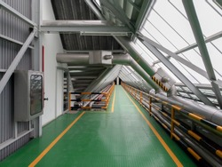 Roof walkways with in industrial plants