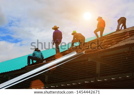 Roofing contractor, roof house installation, roofing contractor. Roof construction, roof repair