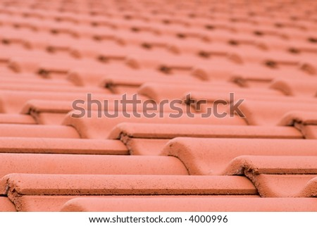roofing tiles diminishing perspective texture