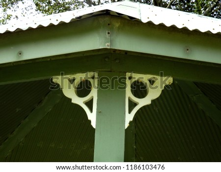 roofing with ornated coners #1186103476