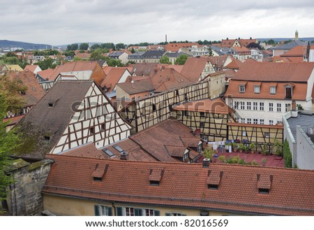 roofs of bamberg in germany - stock photo