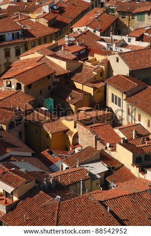 Roofs of florence (Italy) - stock photo