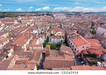 Roofs of Siena, Italy