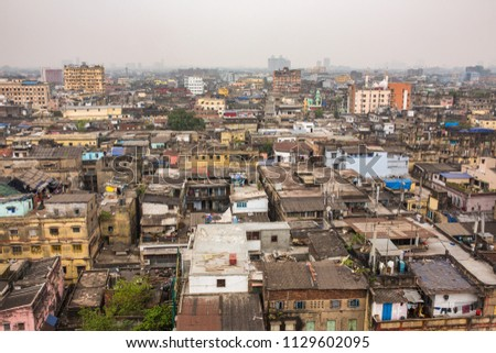 Roofs of the Kolkata city, West Bengal, India.