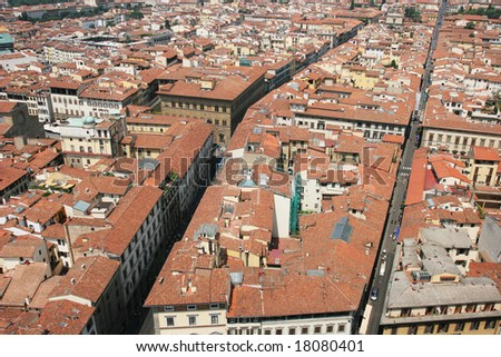 Roofs of the old city (Florence, Italy)