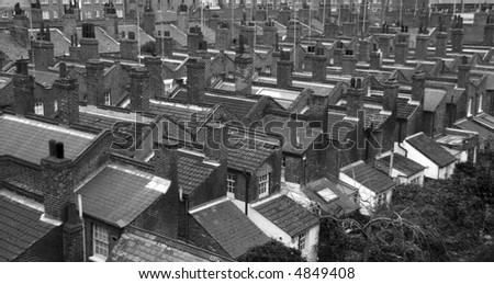 Roofs, roofs, and more roofs - stock photo