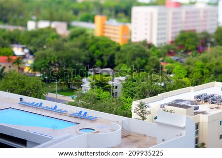 Rooftop pool stock image - stock photo