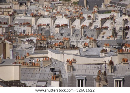 Rooftops in the Latin Quarter, Paris, France