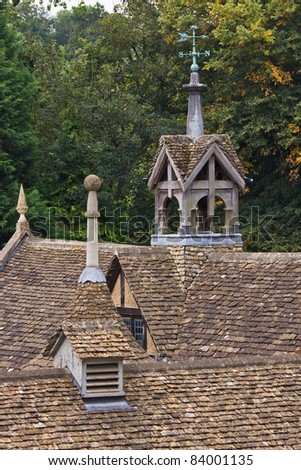 Rooftops of a nineteenth century stable block in Wiltshire UK