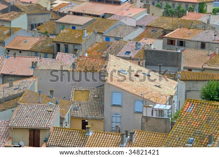 Rooftops of Gruissan in the Aude