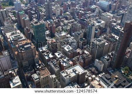 Rooftops of Manhattan in New York City