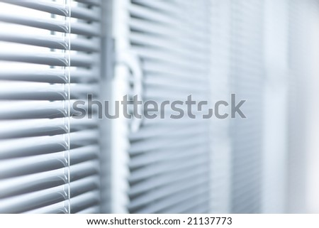 Room decoration  with plastic sunblinds close up - stock photo