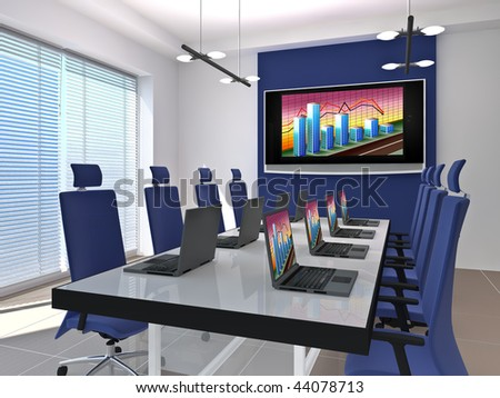 Room for negotiations and meetings. Made in 3D.