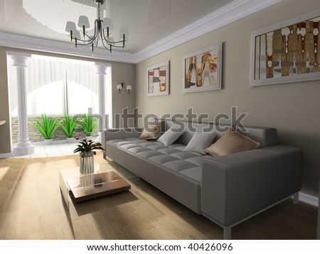 Room in classical style 3d image #40426096