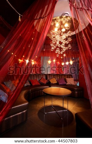 Room in east style for hookah smoking