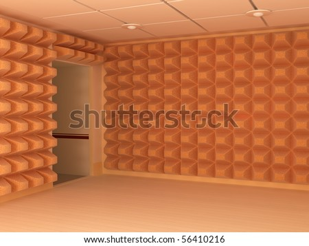 Room interior 3d soundproof walls and entrance horizontal stock photo 56410216 shutterstock for Soundproofing existing interior walls