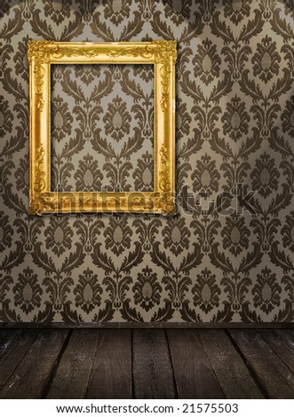 Room interior - ornate frame on the wall, similar available in my portfolio