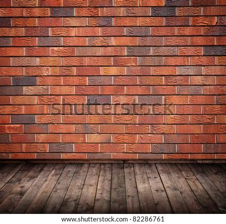 room interior vintage with a brick wall