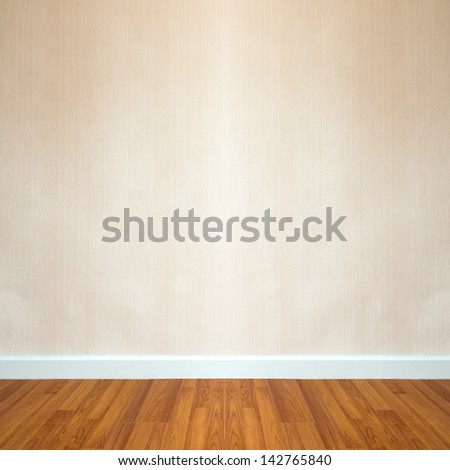 room interior with brown wallpaper