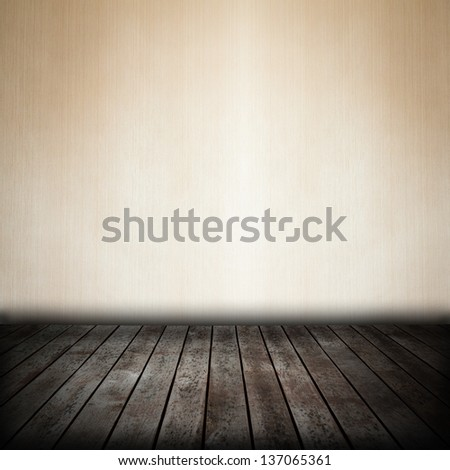 room interior with brown wallpaper background