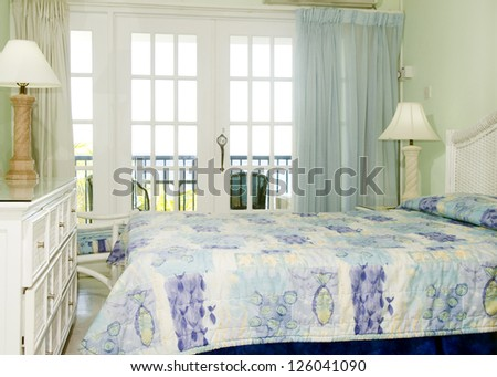 room interior with view of Caribbean Sea St. Lawrence Gap Barbados