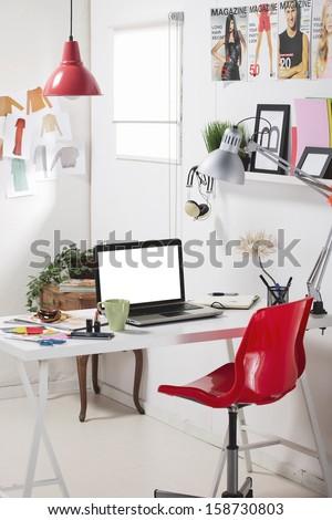 Room of a fashion blogger./ A fashion creative space.