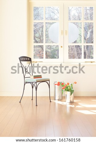 room view with a chair