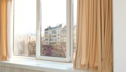 Room window with light curtains