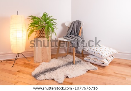 room with cozy light decorated...