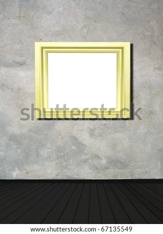 room with empty picture frame - your text here