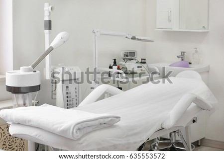 Room with equipment in dermatology clinic #635553572