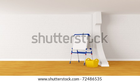 Room with kid's board