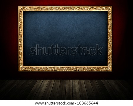 room with large picture