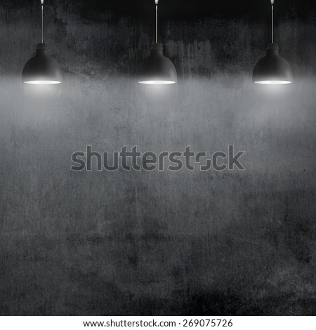 room with pendant lamp