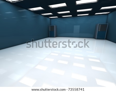 Room with two servers