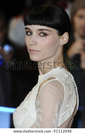 """Rooney Mara arriving for the premiere of """"The Girl with The Dragon Tattoo"""" at the Odeon Leicester Square, London. 13/12/2011. Picture by: Steve Vas / Featureflash"""