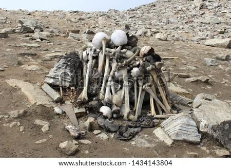 Roopkund Mystery Lake, Human Bones