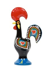 Rooster of Barcelos isolated on white background with clipping path