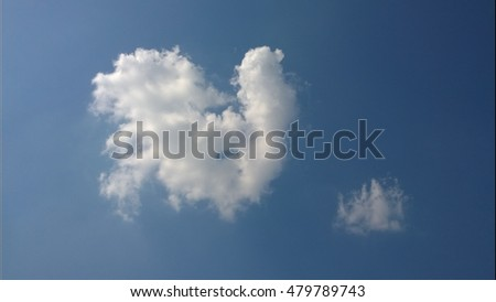 rooster shaped cloud  blue sky  ...