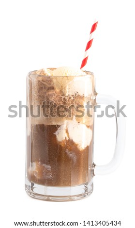 Root Beer Float Isolated on a White Background #1413405434